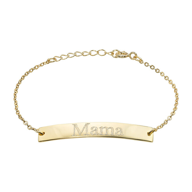 14k Gold Engravable Nameplate Bracelet