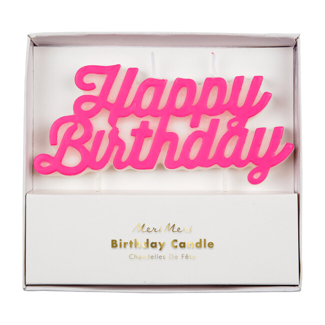 Happy Birthday Candle, Pink