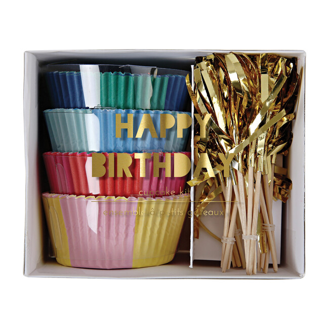 Happy Birthday Cupcake Kit - Party Accessories - 1