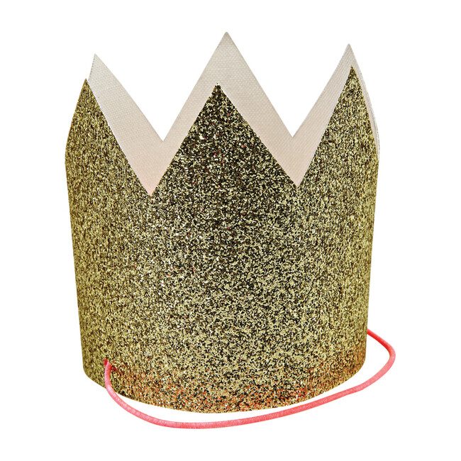 Mini Gold Glitter Crowns