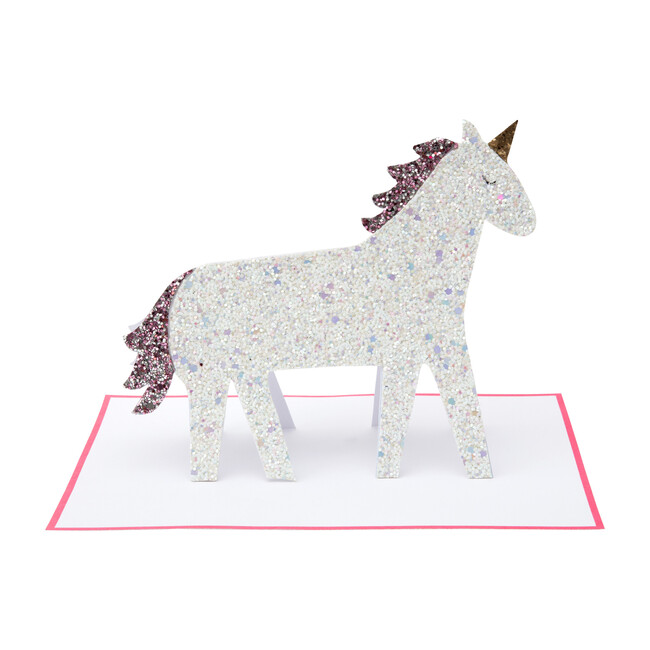 Unicorn Glitter Stand-Up Card