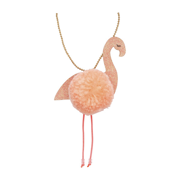 Flamingo Pompom Necklace
