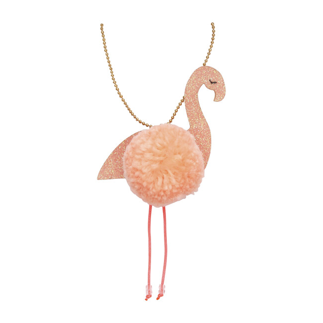 Flamingo Pompom Necklace