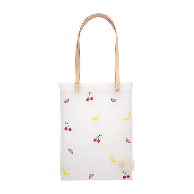 Sequin Fruit Mesh Tote Bag