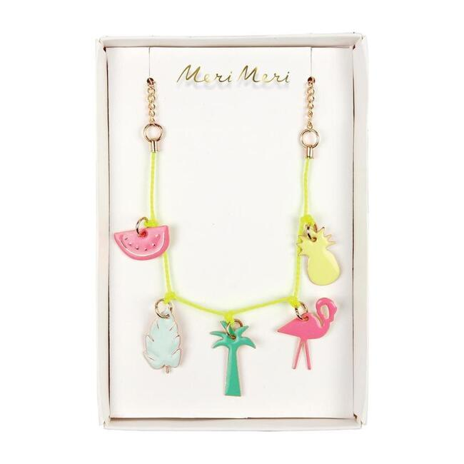 Tropical Enamel Charm Necklace