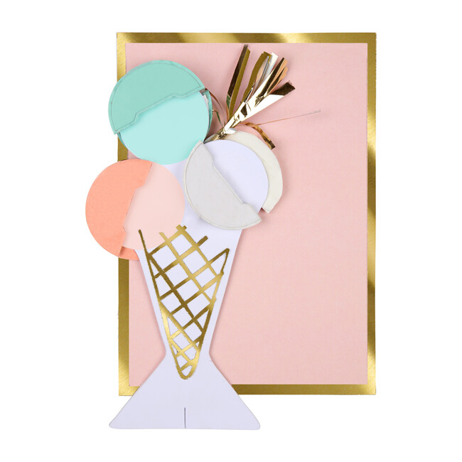 Ice Cream Honeycomb Card