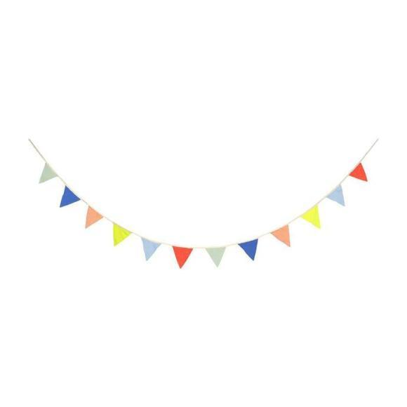 Multicolor Knitted Flag Bunting