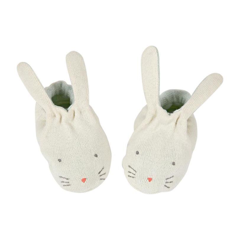 Bunny Baby Booties, Mint