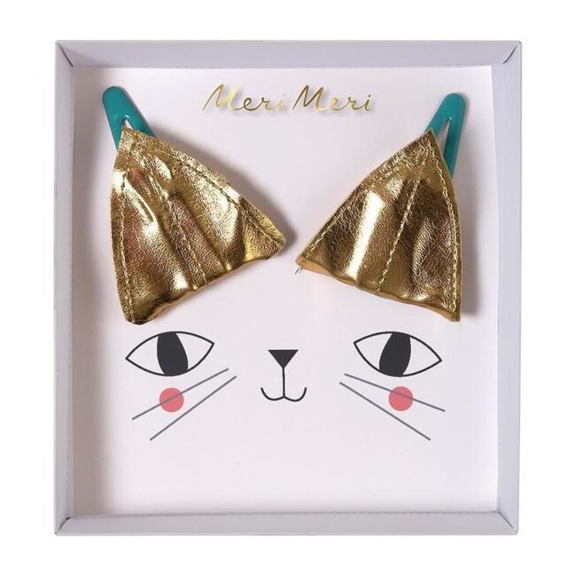 Cat Ear Hair Clips Gold