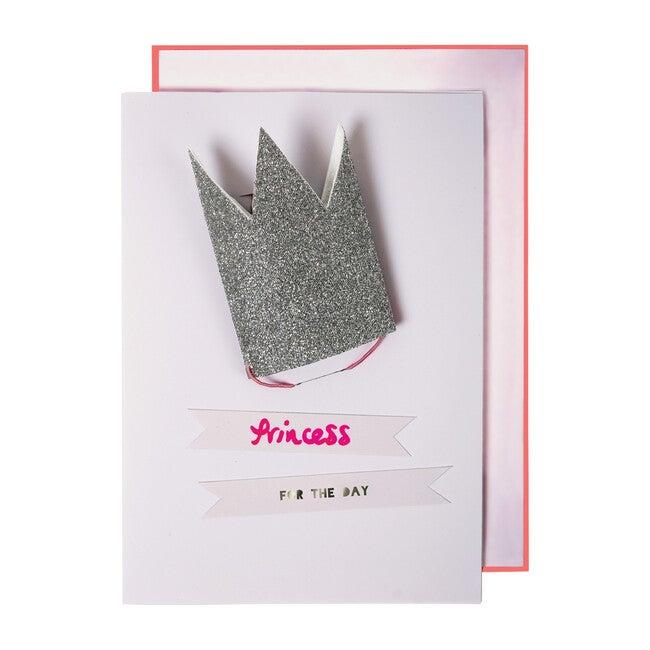 Glitter Princess Crown Card