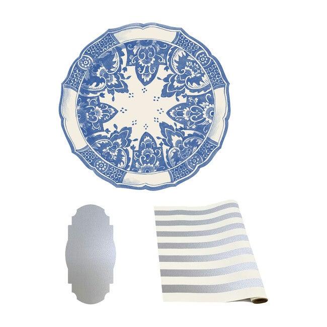Die Cut China Blue Tablescape Bundle
