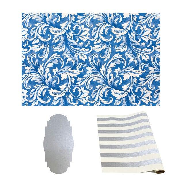China Blue & Silver Tablescape Bundle