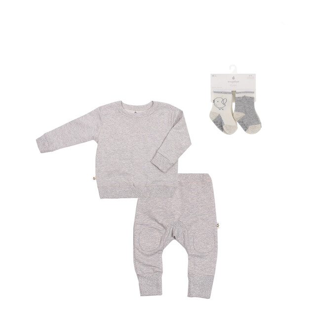 Sweatshirts + Sweatpants + Socks Bundle, Heather Grey