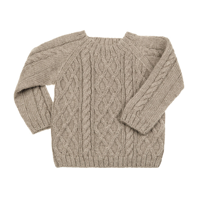 Cable Knit Sweater, Taupe
