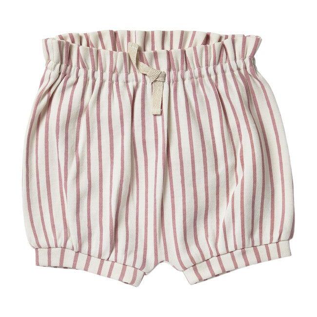 Organic Stripes Away Bloomers, Pink