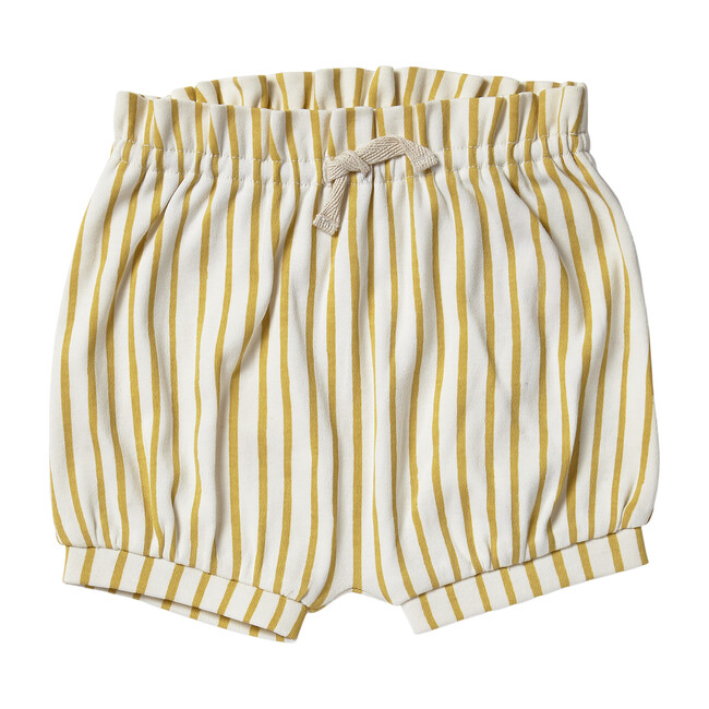 Organic Stripes Away Bloomers, Marigold