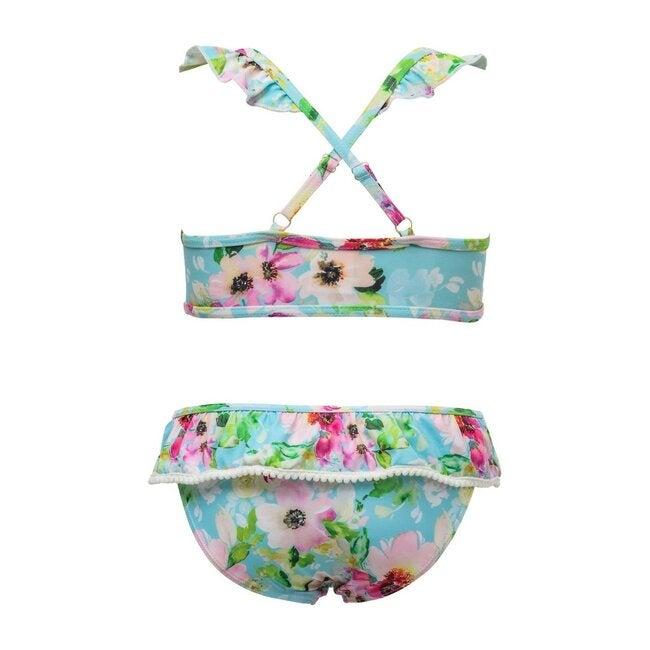 Watercolor Sports Ruffle Bikini