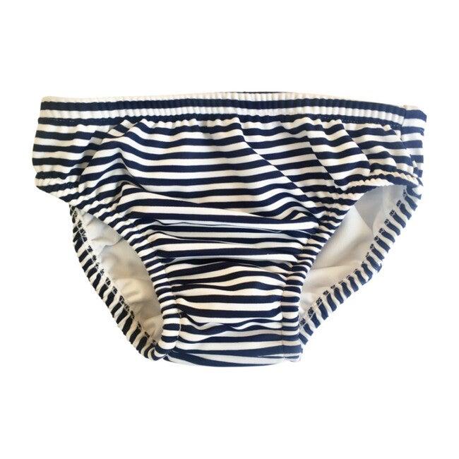Navy/White Stripe Swim Diaper