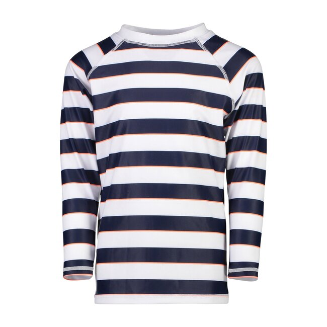 Navy White Rugby Stripe Long Sleeve Rash Top