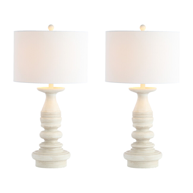 Set of 2 Jareth Table Lamp, White