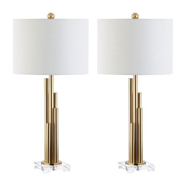 Set of 2 Hopper Table Lamps, Gold
