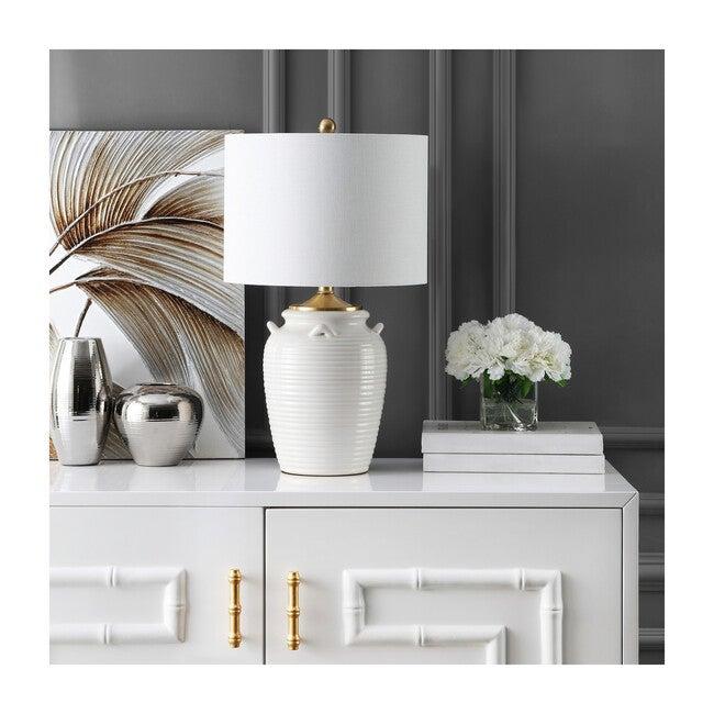 Lener Table Lamp, Ivory