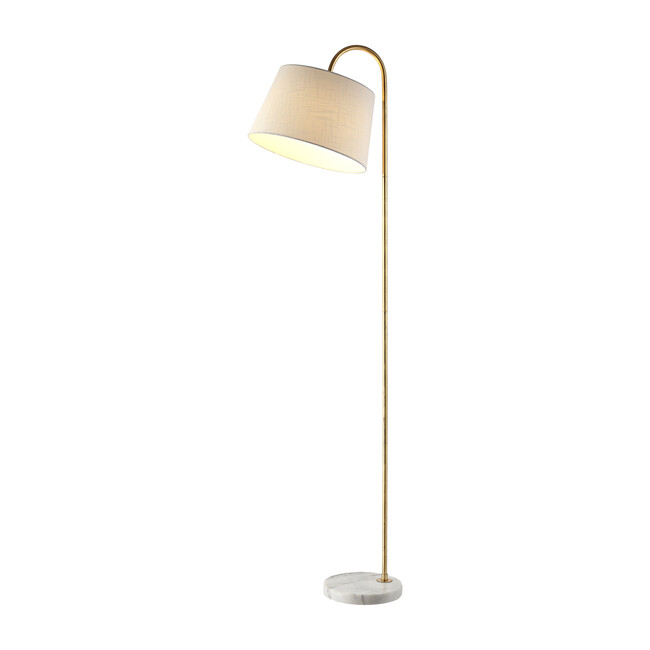 Dacey Floor Lamp, Gold/Marble