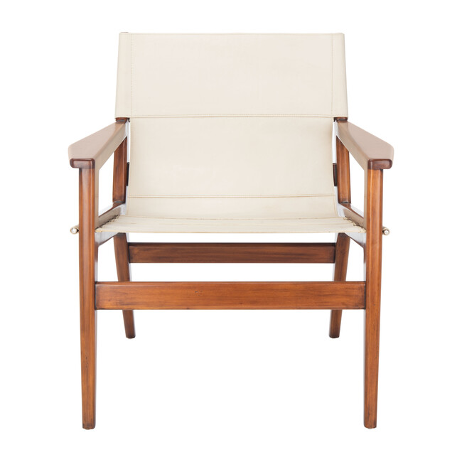 Culkin Leather Sling Chair, White