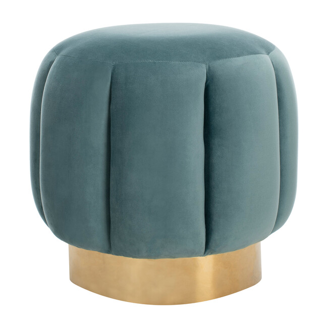 Maxine Channel Tufted Otttoman, Forest Green