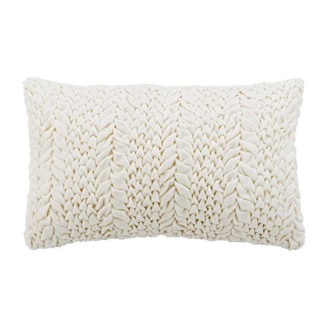 """Barlett Pillow, Cream - 12"""" x 20"""""""