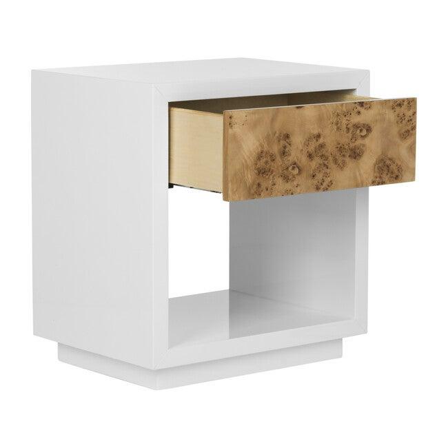 Aldo Lacquer Side Table, White