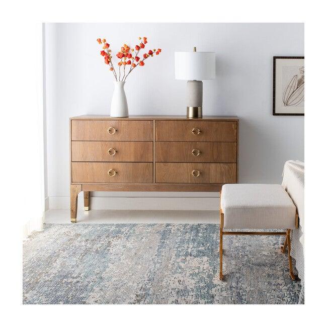 Lorna 6 Drawer Contemporary Dresser, Rustic Oak
