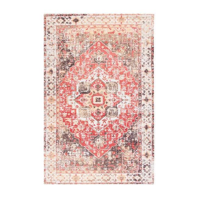 Saffron Tavi Rug, Ivory/Red