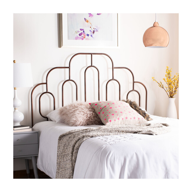 Paloma Metal Retro Headboard, Bronze