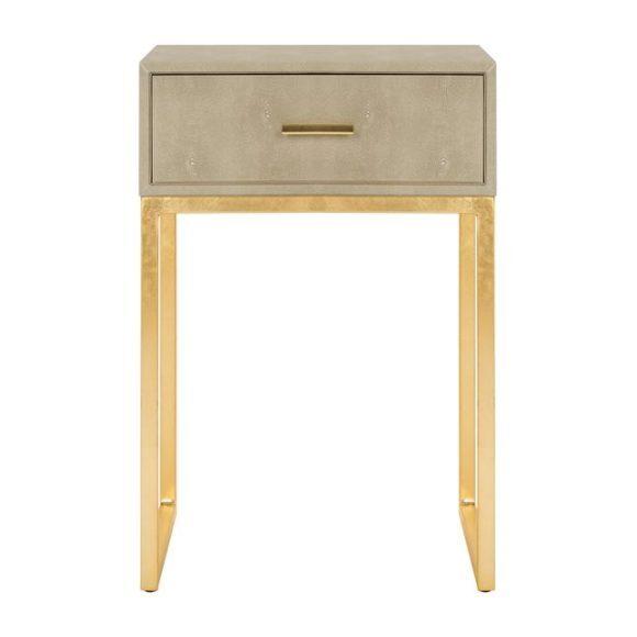 Mori Shagreen Side Table, Tan