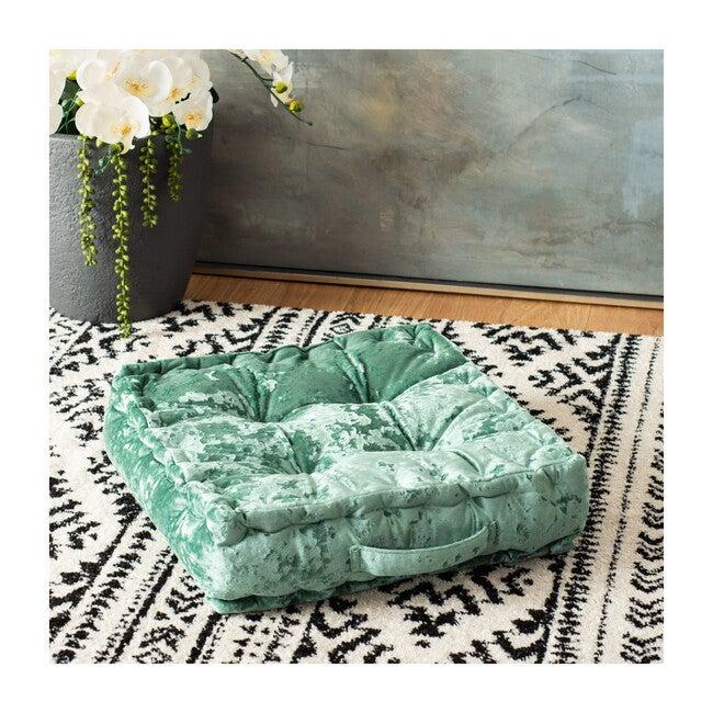 Peony Floor Pillow, Green
