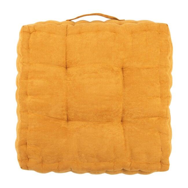 Gardenia Floor Pillow, Mustard