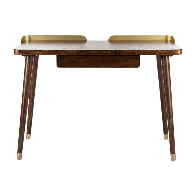 Parker 1 Drawer Desk, Dark Walnut