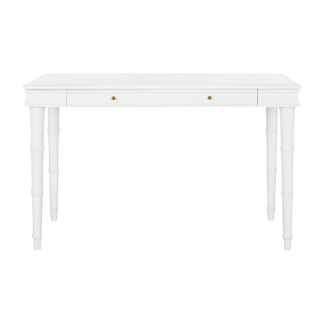 Noely Modern Coastal Writing Desk, White