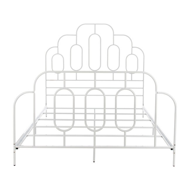 Paloma Metal Retro Bed, White