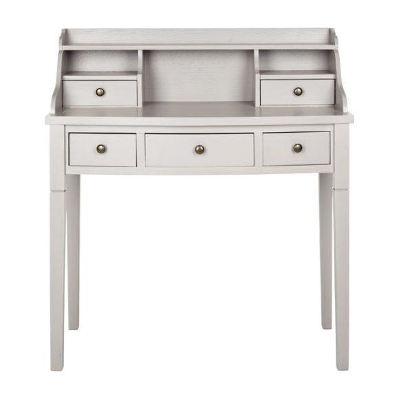 Landon 5-Drawer Desk, Grey