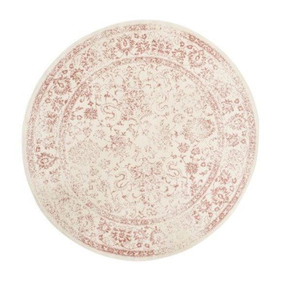 Adirondack Adele Rug, Pink/Ivory
