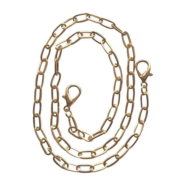 Gold Paper Clip Mask Chain