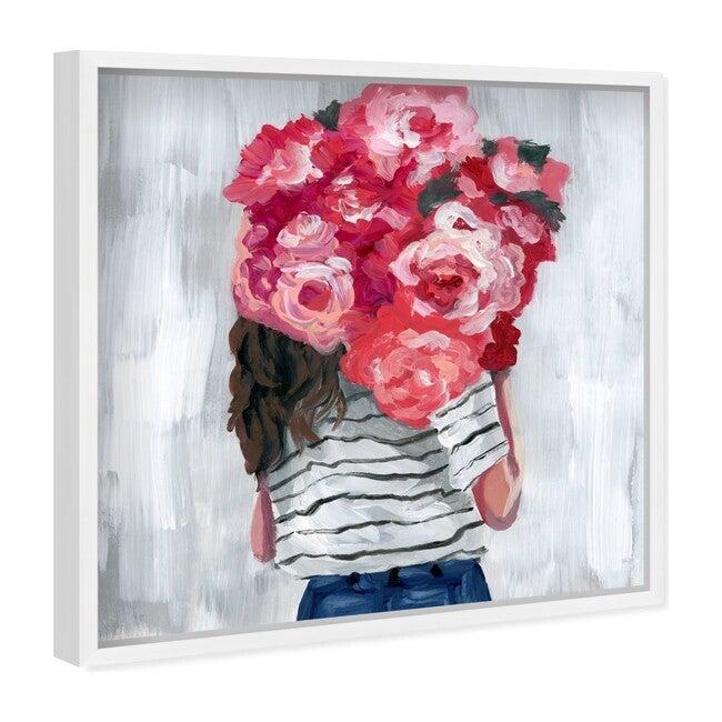 Flower Delivery Girl, Framed