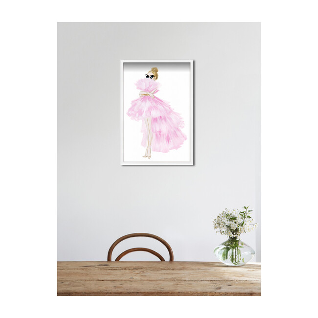 Gathered Gown Print, Framed