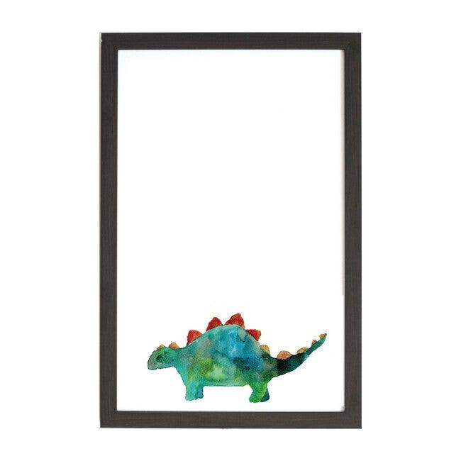 Watercolor Magnet Board Art, Stegosaurus