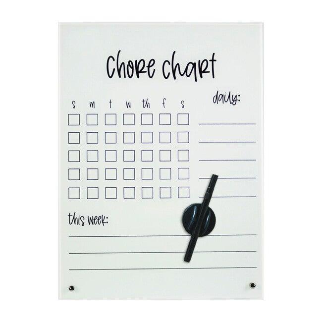 Chore Chart Dry-Erase Board, Glass