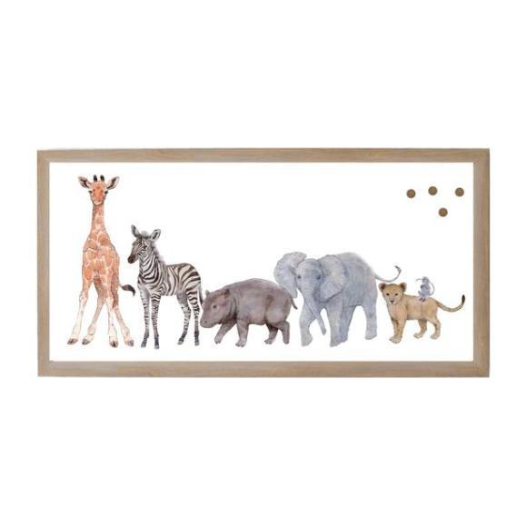 Baby Jungle Animal Magnet Board, Animal Family