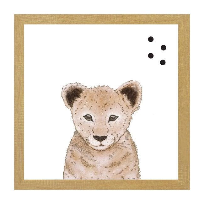 Baby Animal Portrait Magnet Board, Lion