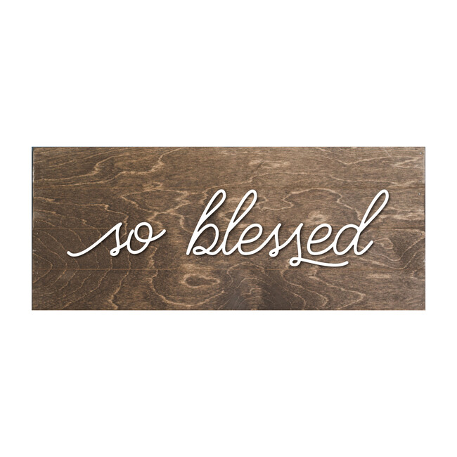 So Blessed Handmade Board, Walnut Brown
